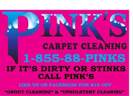 Pink's Carpet Cleaning logo