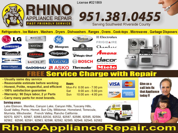 Rhino Appliance Repair logo