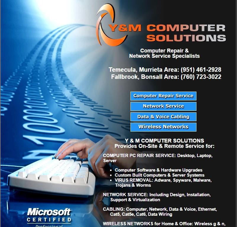 Y&M Computer Solutions logo