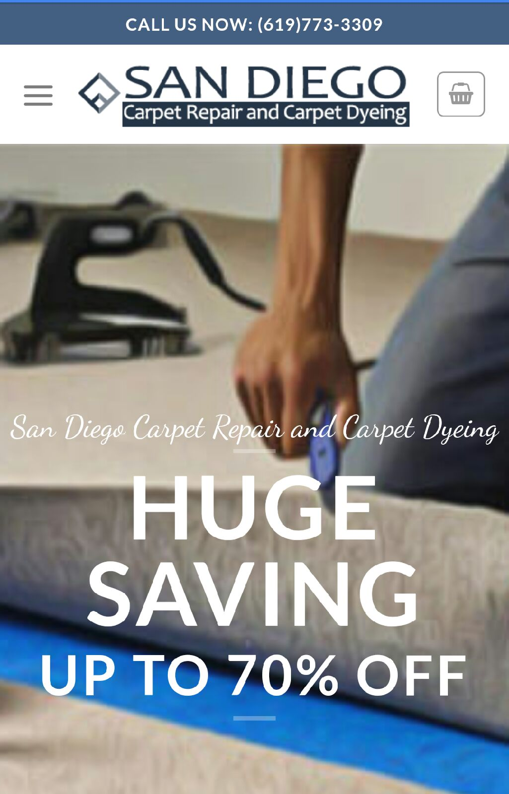 619-773-3309 San Diego carpet repair and carpet dying logo