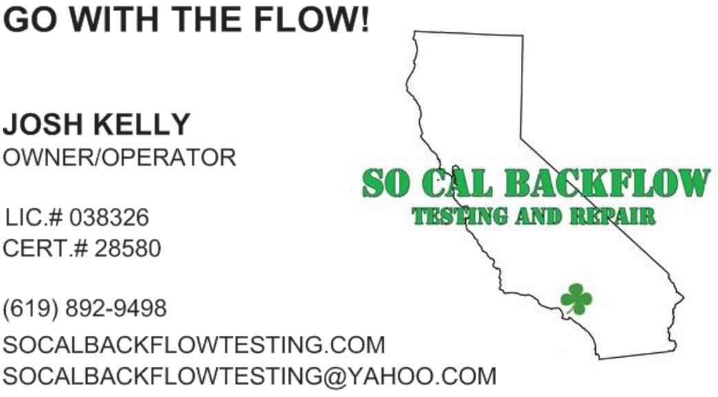 Socalbackflow testing and repair logo